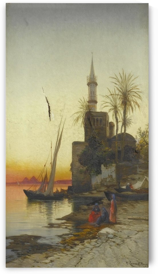 On the banks of the Nile by Hermann David Salomon Corrodi