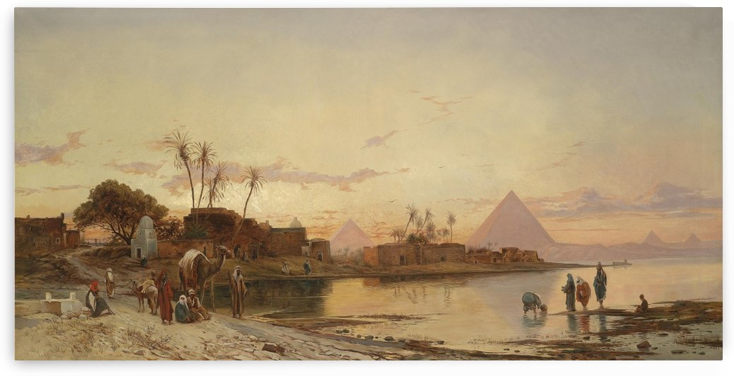 City entrance along the Nile by Hermann David Salomon Corrodi