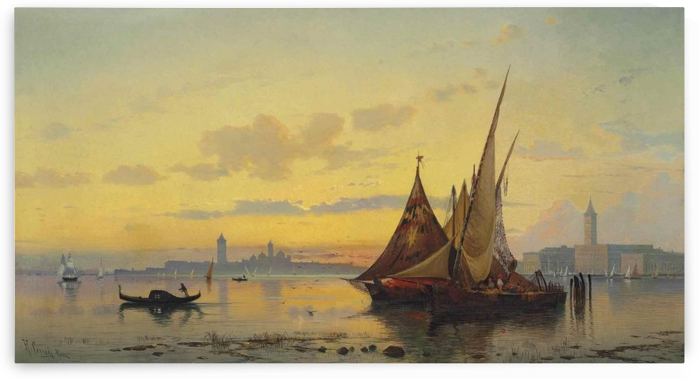The Lagoon, Venice by Hermann David Salomon Corrodi