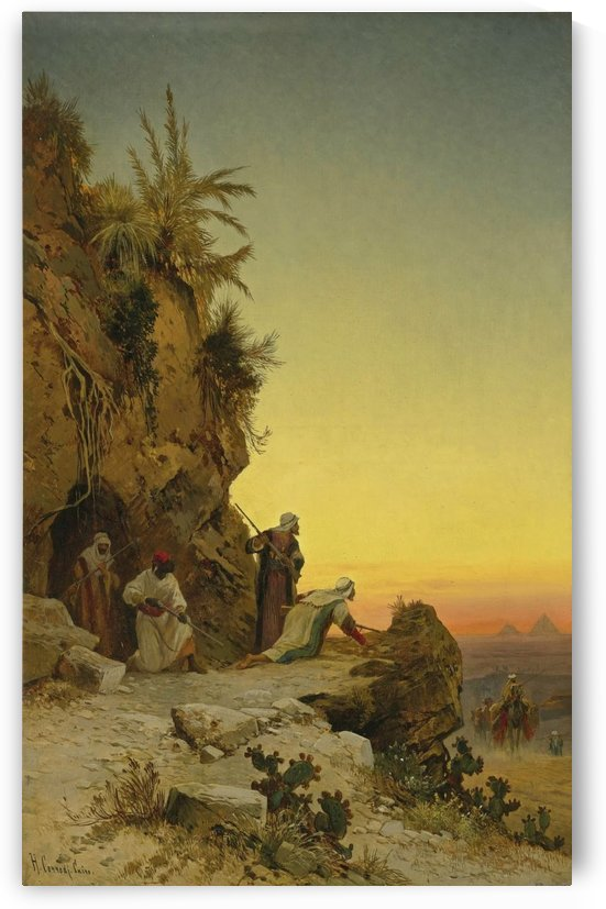 The ambush near Giza by Hermann David Salomon Corrodi