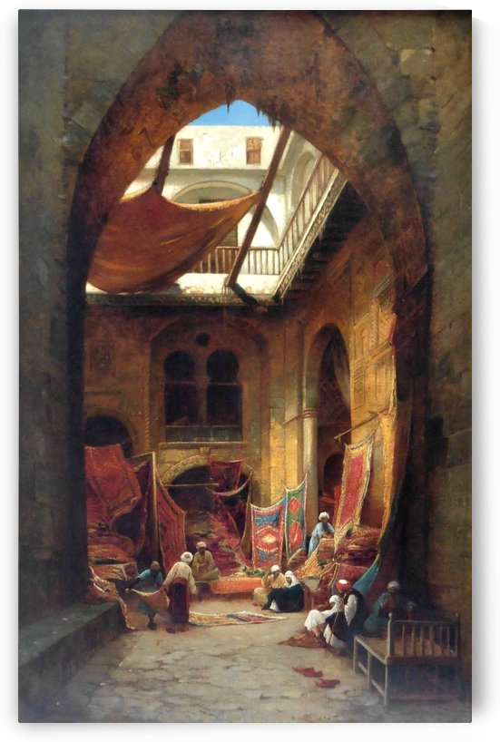 Carpet Bazaar by Hermann David Salomon Corrodi