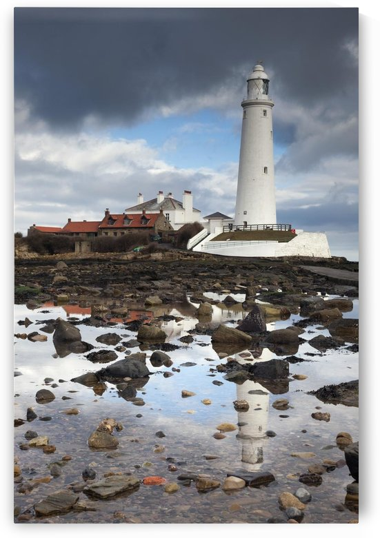 Whitley Bay, Northumberland, England; St. Mary's Lighthouse by PacificStock