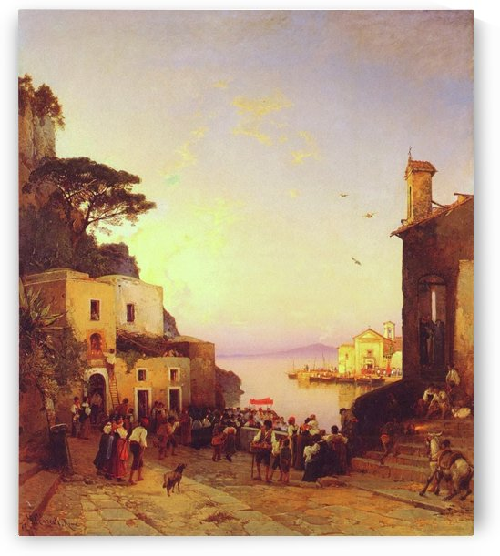 Procession to Sorrento by Hermann David Salomon Corrodi