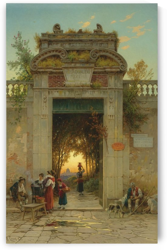 Main entrance to Vila Cavalieri by Hermann David Salomon Corrodi