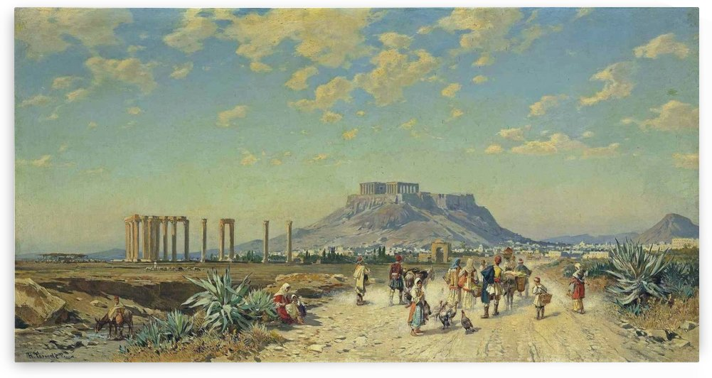The Acropolis, Athens by Hermann David Salomon Corrodi