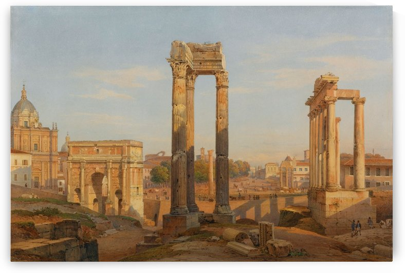 Forum Romanum by Hermann David Salomon Corrodi