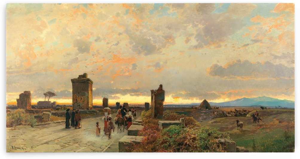 Via Appia Antica by Hermann David Salomon Corrodi