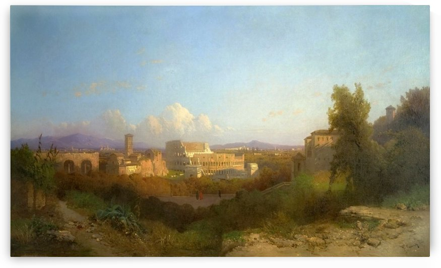 View from the Palatine Hill, Rome by Hermann David Salomon Corrodi