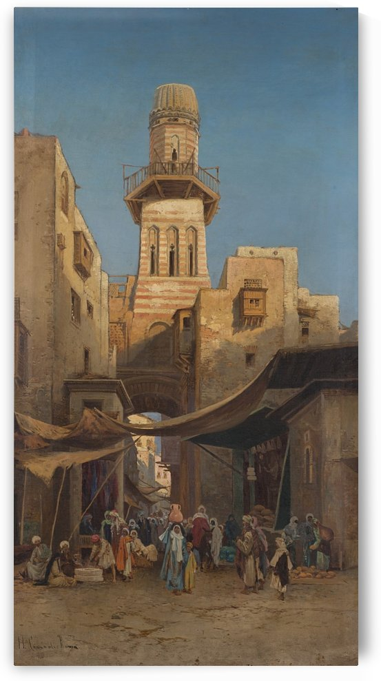 Arab market with figures by Hermann David Salomon Corrodi