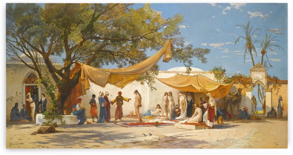 The slave traders market by Hermann David Salomon Corrodi