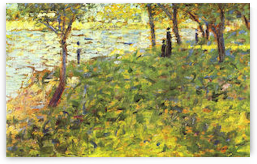 Landscape with figures by Seurat by Seurat