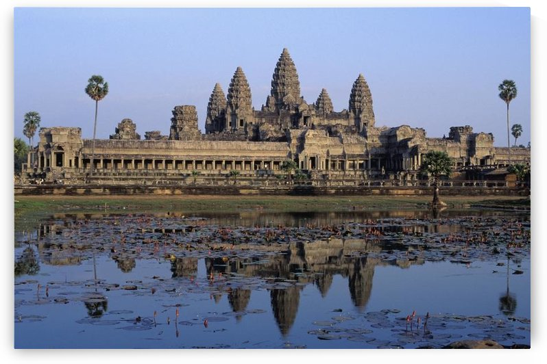 Towers Of Angkor Wat And Lake by PacificStock