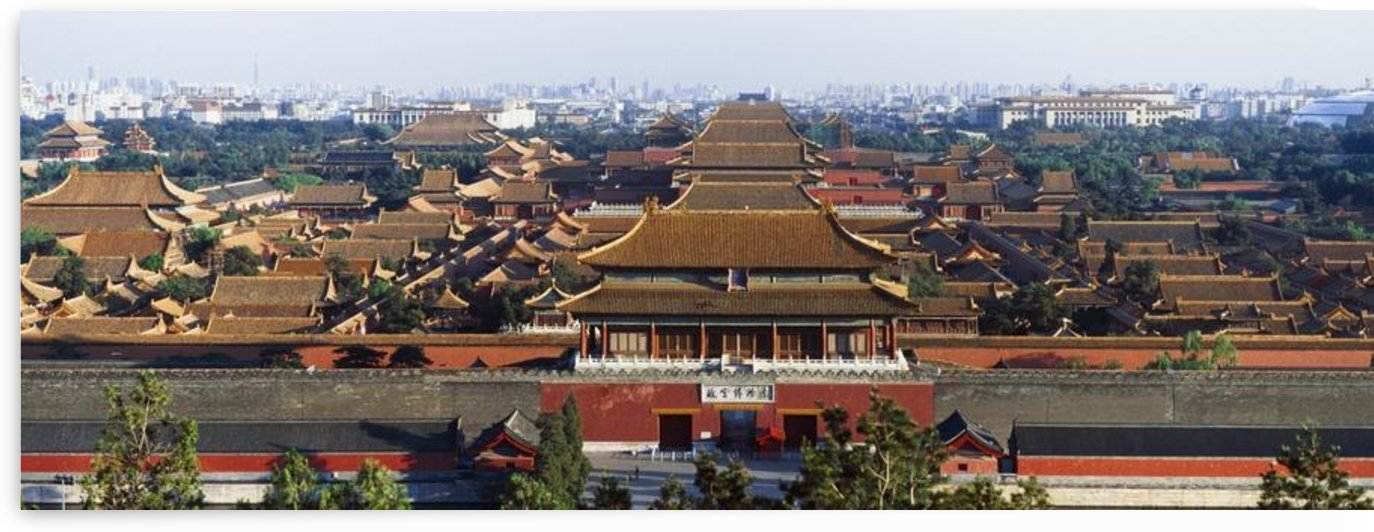 View Of The Forbidden City At Dusk From Jingshan Park. by PacificStock