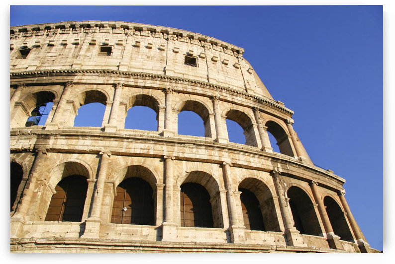The Colosseum And Blue Sky, Close Up by PacificStock