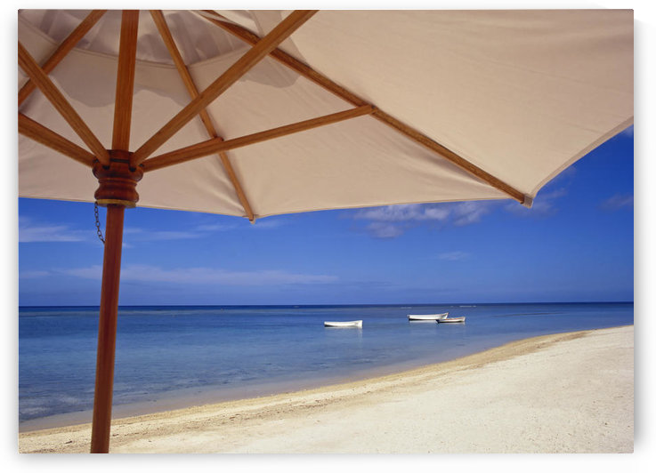 Umbrella And Tropical Beach, Close Up by PacificStock