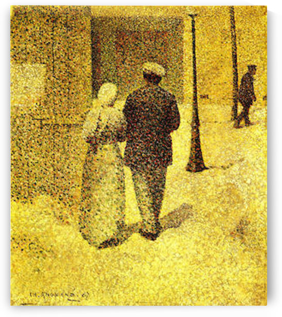 Man and woman on the street by Agrande by Agrande
