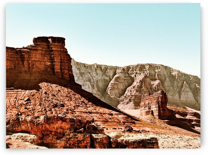 mountain and desert with blue sky at Utah, USA by TimmyLA