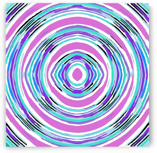 psychedelic graffiti circle pattern abstract in pink blue purple by TimmyLA