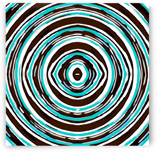 psychedelic geometric graffiti circle pattern abstract in blue black and white by TimmyLA