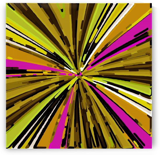 psychedelic geometric graffiti line pattern painting abstract in yellow green brown pink by TimmyLA