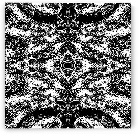 vintage psychedelic graffiti symmetry art abstract in black and white by TimmyLA