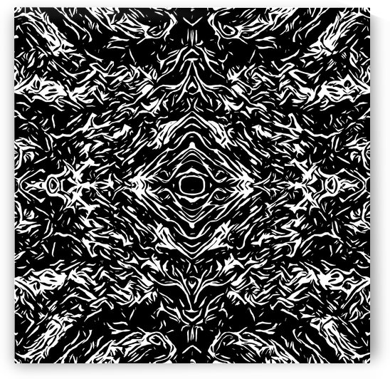 psychedelic graffiti symmetry art abstract in black and white by TimmyLA