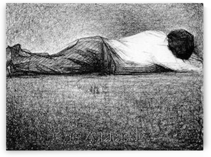Man sleeping by Seurat by Seurat