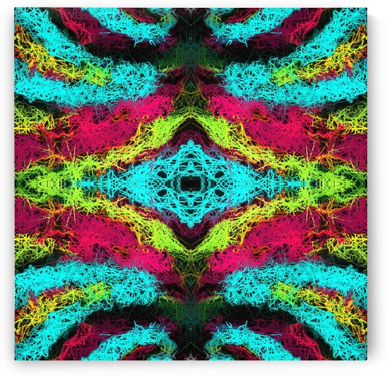 psychedelic graffiti geometric drawing abstract in blue pink yellow by TimmyLA