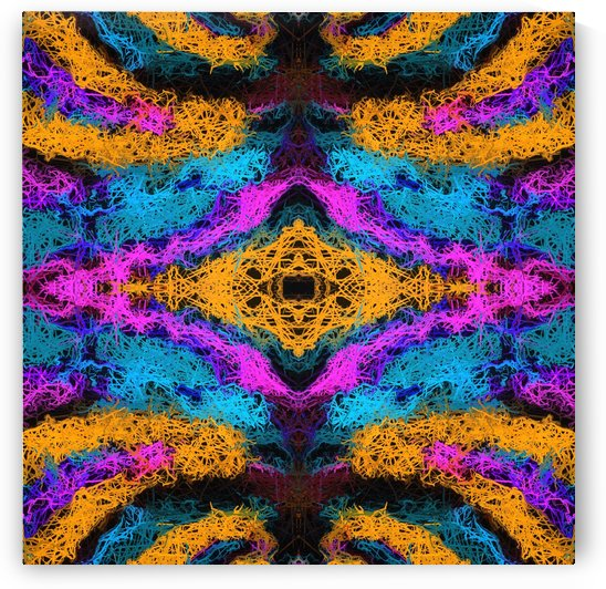 psychedelic graffiti geometric drawing abstract in pink orange blue by TimmyLA