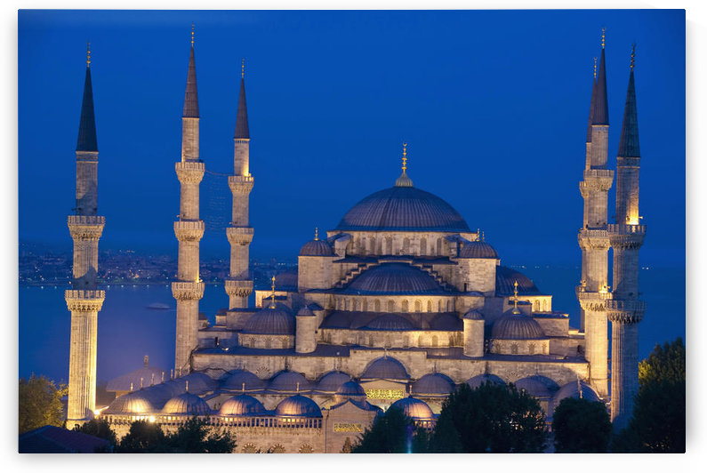Turkey, Sultanahmet or Blue mosque at dusk; Istanbul by PacificStock