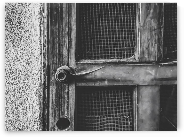 old vintage wooden door in black and white by TimmyLA
