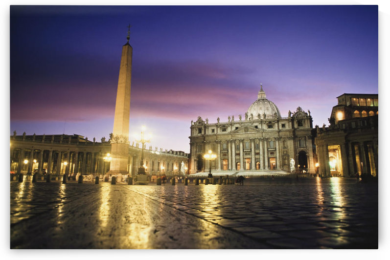 Nightfall At The Square At St. Peter's. The Vatican. Rome,Italy. by PacificStock