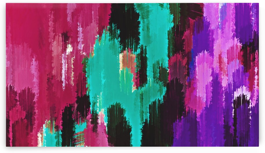 red pink purple green and black painting abstract background by TimmyLA