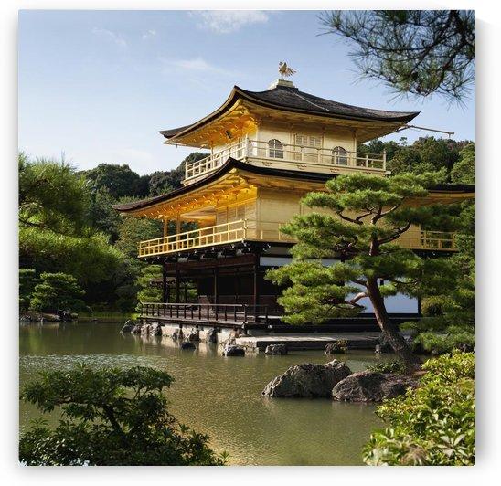 Golden Pavilion, A Buddhist Temple; Kinkaku Ji, Kyoto, Japan by PacificStock