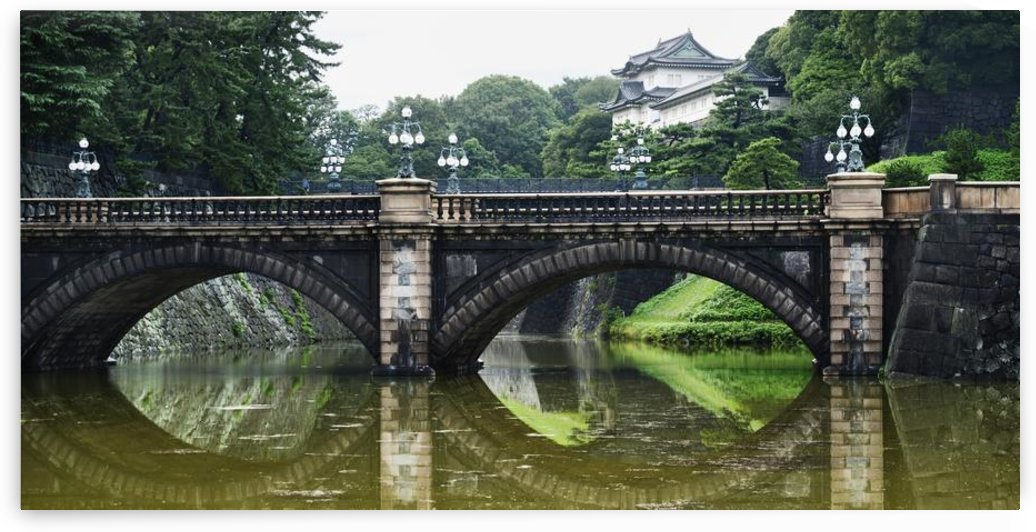 Nijubashi Bridge At Imperial Palace; Tokyo, Japan by PacificStock