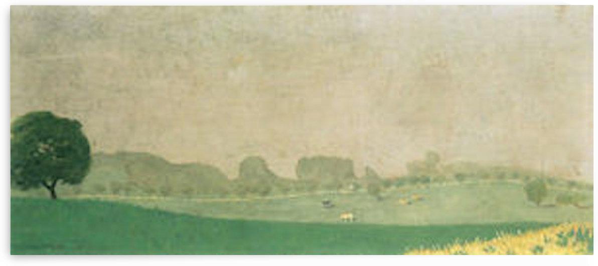 Morning mist in Romanel by Felix Vallotton by Felix Vallotton