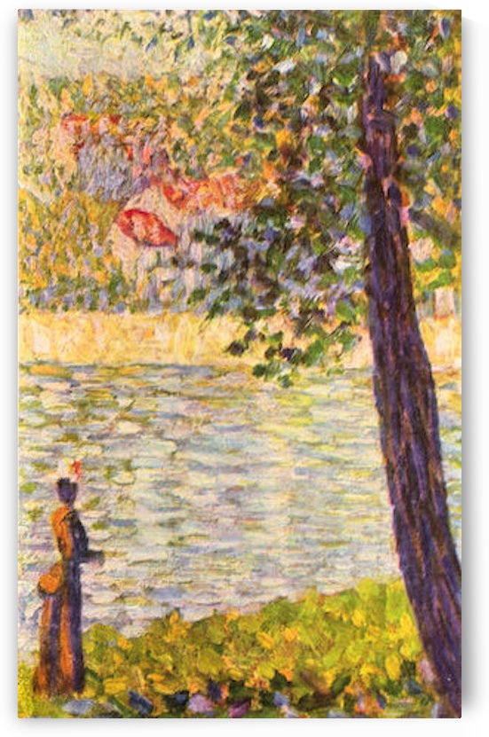 Morning walk (The Seine at Courbevoie) by Seurat by Seurat