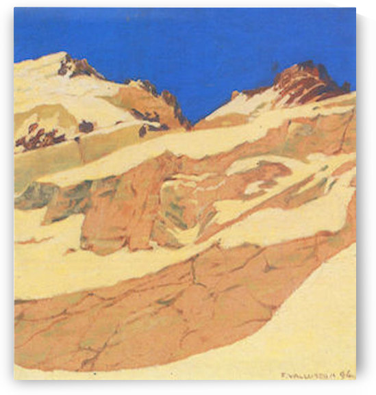 Mountain landscape by Felix Vallotton by Felix Vallotton