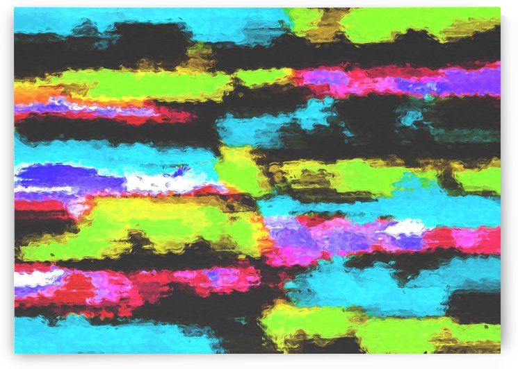 graffiti splash painting abstract in blue green pink black by TimmyLA