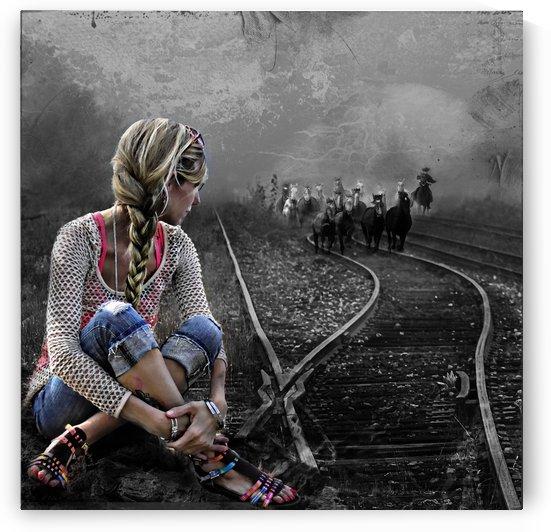 Railway TracksBW by Light Seeker
