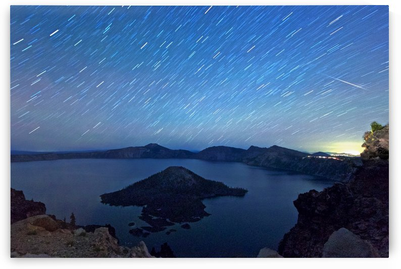 Perseid Over Crater Lake 8 11 2015 by Craig Nowell Stott