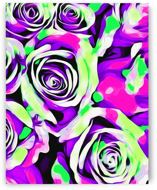 pink purple and green roses texture abstract background by TimmyLA