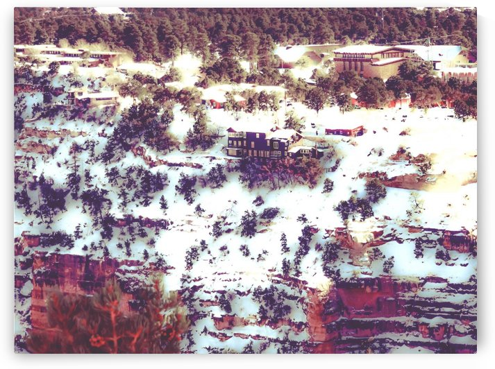 snow at Grand Canyon national park, USA in winter by TimmyLA