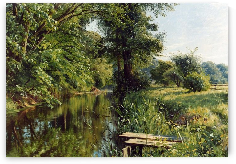 Reflections of spring by Peter Mork Monsted