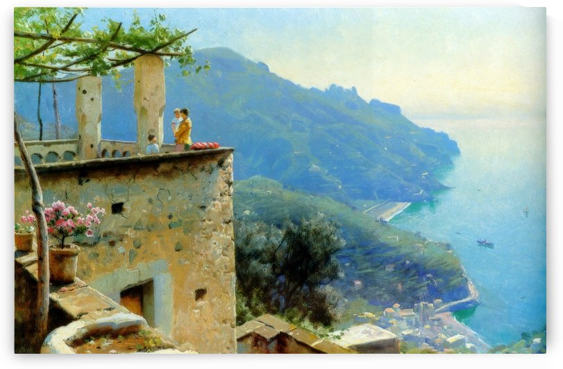 The Ravello coastline by Peter Mork Monsted