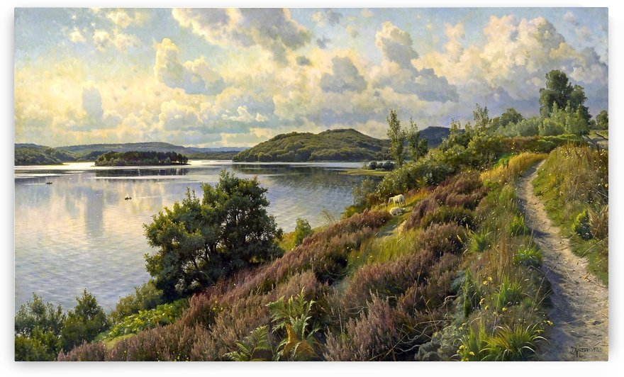A view of Borreso from Himmelbjerget, Denmark by Peter Mork Monsted