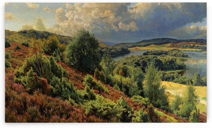 Sunny day on the hills of Silkeborgh by Peter Mork Monsted