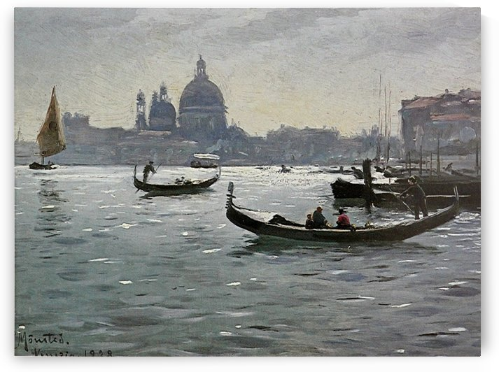 Gondolas entering the Grand Canal in Venice, 1928 by Peter Mork Monsted