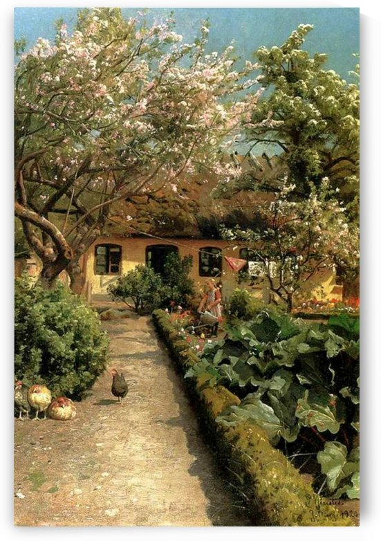 Watering the garden by Peter Mork Monsted