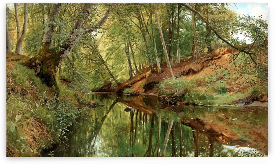 The river in Saeby Skov by Peter Mork Monsted